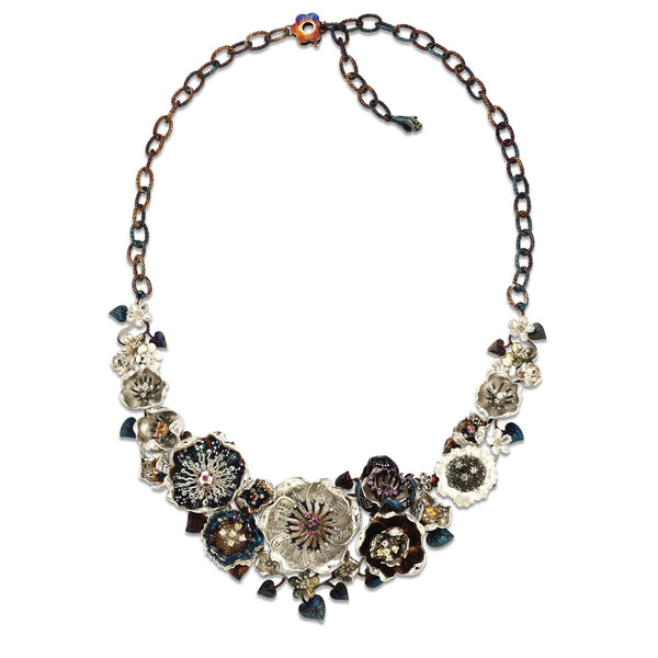 Gallica - Silver MasterBloom Bouquet Necklace - Topaz Jewelry USA - ROBERTO BRAVO