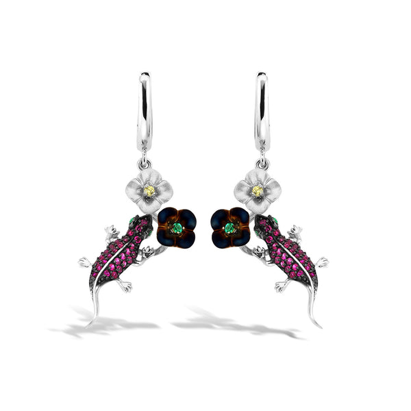 GW - Silver Rainforest Earrings - Topaz Jewelry USA - ROBERTO BRAVO