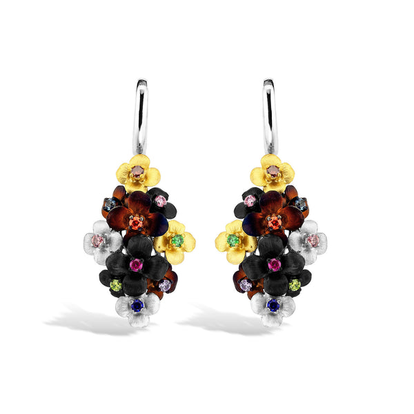 GW - Silver Bouquet Earrings - Topaz Jewelry USA - ROBERTO BRAVO