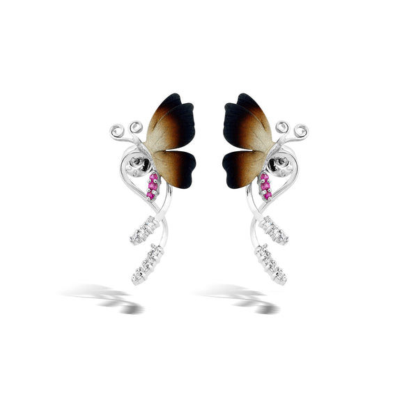 GW - Silver Butterfly Earrings - Topaz Jewelry USA - ROBERTO BRAVO