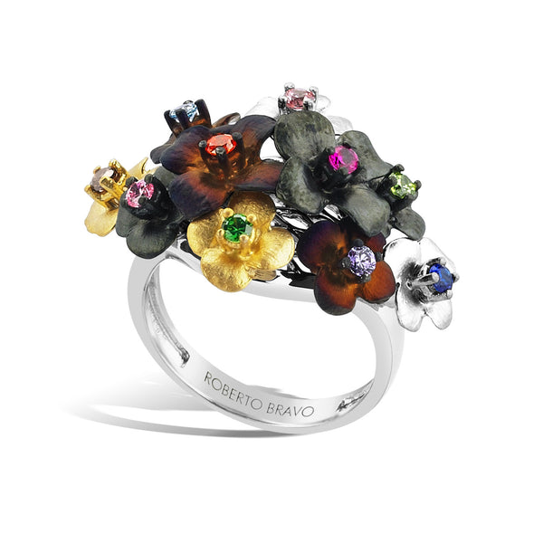 GW - Silver Bouquet Ring - Topaz Jewelry USA - ROBERTO BRAVO
