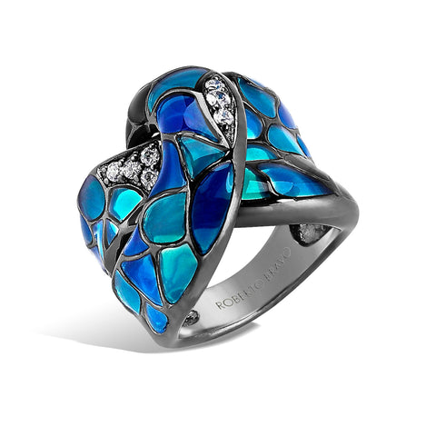 Kaleidoscope - Diamond Seascape Ring - Topaz Jewelry USA - ROBERTO BRAVO
