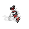 Monarch Butterfly - Silver White Sapphire Branch Ring - Topaz Jewelry USA - ROBERTO BRAVO - 1