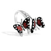 Monarch Butterfly - Silver White Sapphire Branch Ring - Topaz Jewelry USA - ROBERTO BRAVO - 2