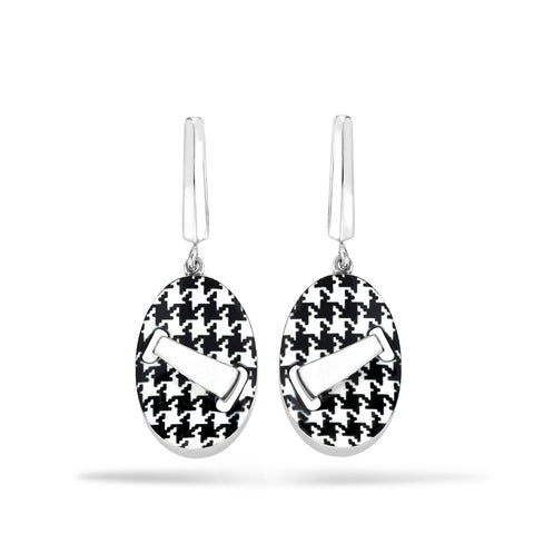 Pied de Poule - Silver Earrings - Topaz Jewelry USA - ROBERTO BRAVO