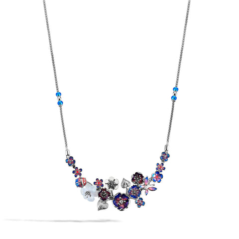 Tanzanite - Silver Butterfly Garden Necklace - Topaz Jewelry USA - ROBERTO BRAVO