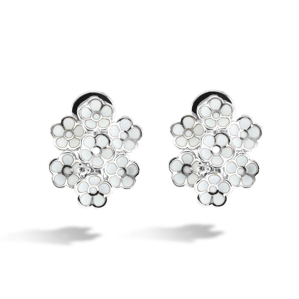 White Dreams - Silver Bouquet Earrings - Topaz Jewelry USA - ROBERTO BRAVO