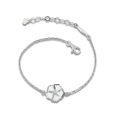 White Dreams - Silver Bloom Bracelet - Topaz Jewelry USA - ROBERTO BRAVO