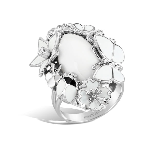 White Dreams - Silver  Ring - Topaz Jewelry USA - ROBERTO BRAVO