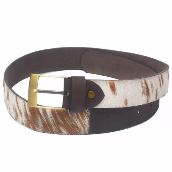 Hair-On Leather Belt