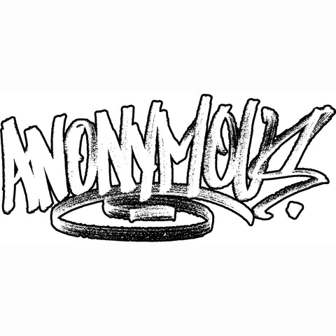 """ANONYMOUS"" graffiti handstyle outlined"