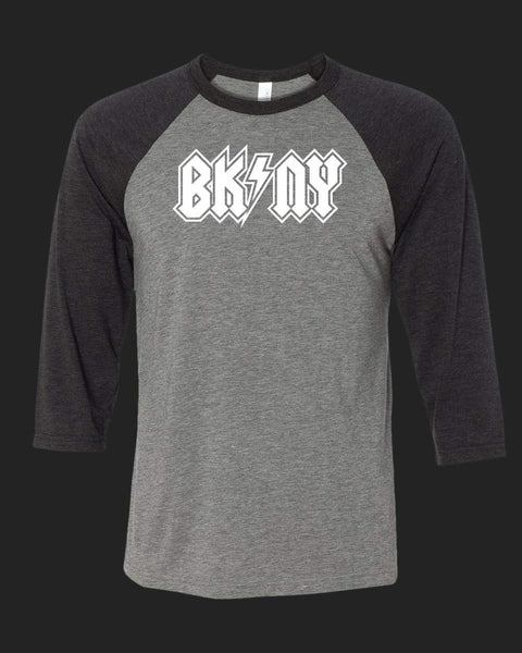 BK NY v1 Baseball Tee white outlined print