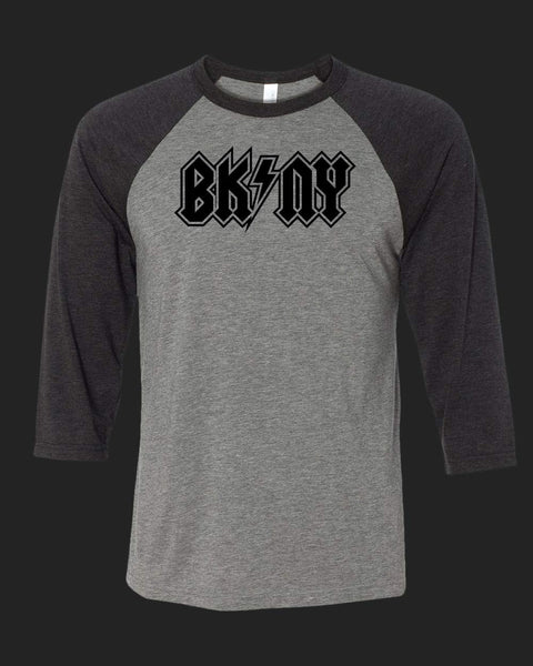 BK NY v1 Baseball Tee black outlined print