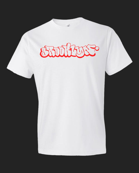 Brooklyn Throwup Tee Red print