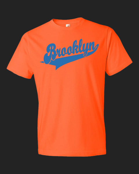 Brooklyn Dugout Tee Royal Blue print