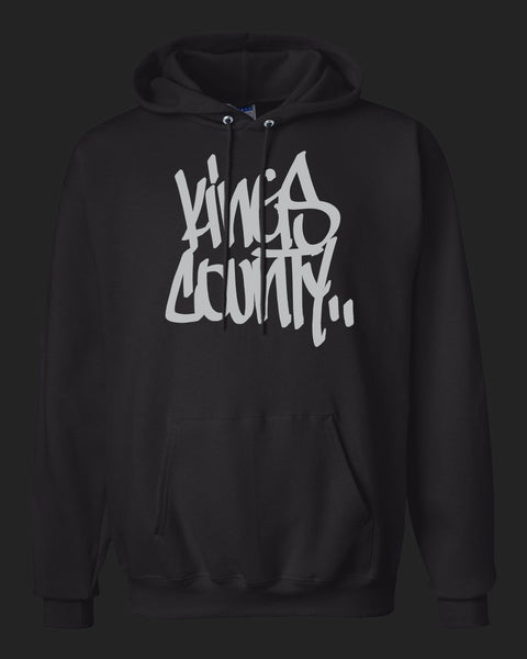 Kings County Hoodie Light Gray print