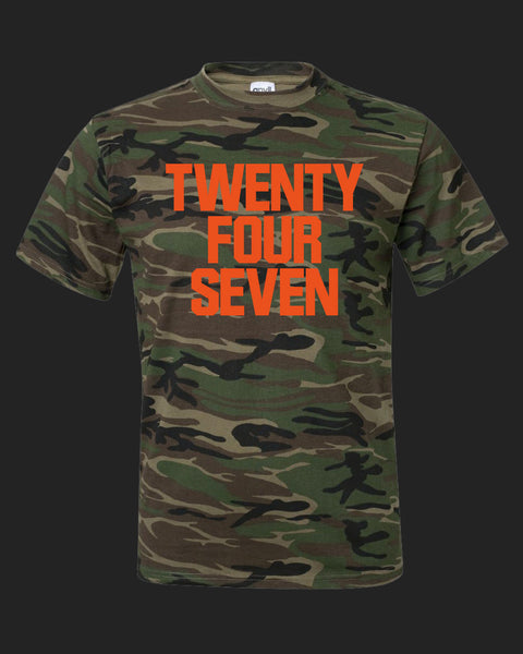 TWENTY FOUR SEVEN-camo-orange print