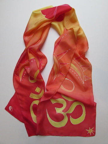 """Big Om"" - Hand-dyed Silk Scarf - $145"