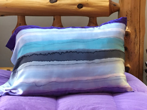 """Dreamscape"" Silk Satin Pillowcase - $60"