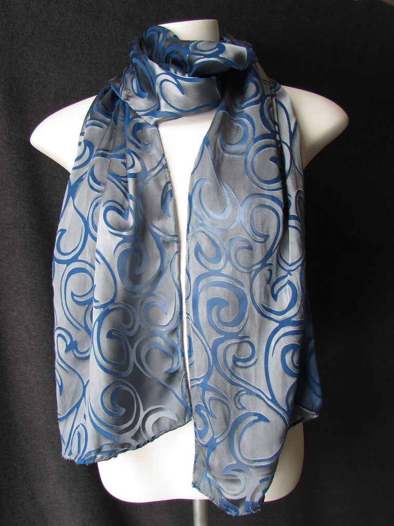 """Fog Rolling In"" - Hand-dyed scarf - $65"