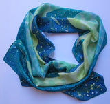 """Deep Sea Fishing"" - Hand-dyed Silk Scarf - $125"