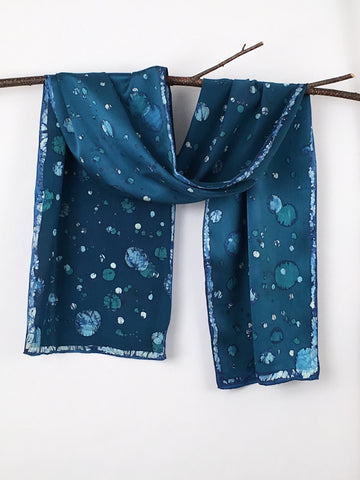 """Atmospheres"" - Hand-dyed Silk Scarf - $95"