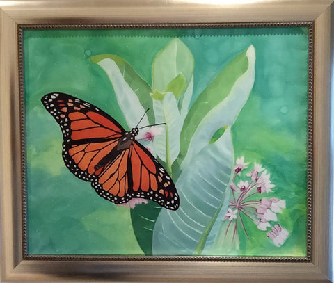 """Monarchs Rule"" - Painting on Silk - $695 - Sale 50% off"
