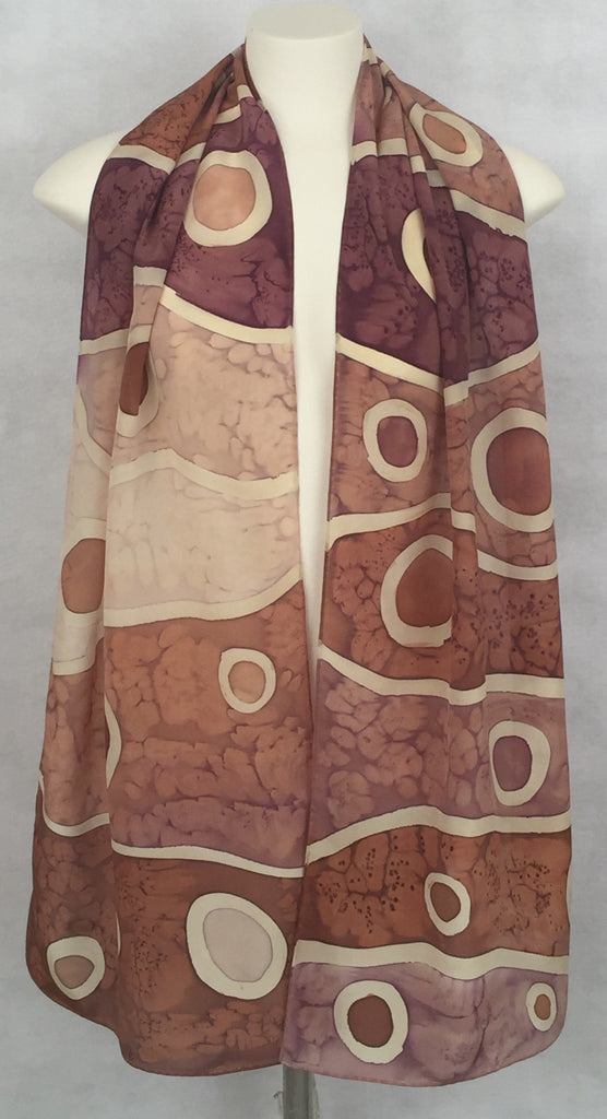 """The Space Between in Natural"" - Hand-dyed Silk Scarf - $85"