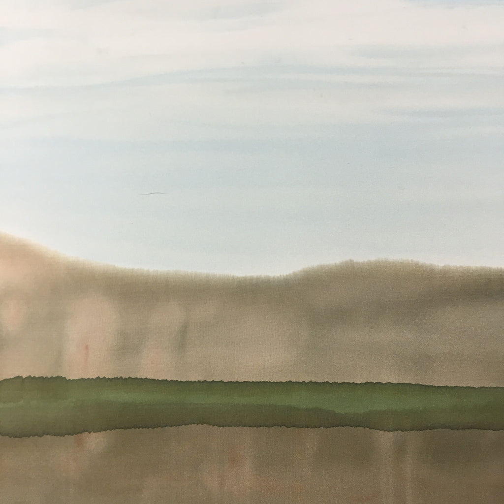 """Mirage ~ Desert Landscape"" - Painting on Silk - $125"