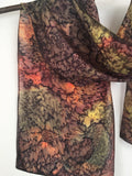 """Autumn Light"" - Hand-dyed Silk Scarf - $95"