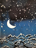 """Evening in the Mountains""- Hand-dyed Silk Wall Hanging  - $135"