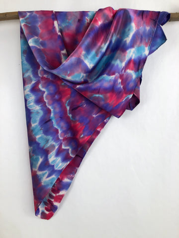 """Butterfly Scales"" - Hand-dyed Silk Scarf - SOLD"