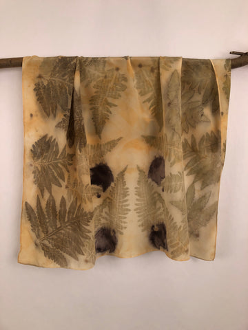 """Eco-print Ferns"" - Silk Scarf - $85"