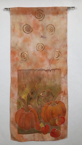"""Autumn Celebration"" - Silk Wall-hanging - $110"