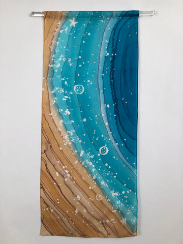 """Surf Zone I"" - Painting on Silk - $150"