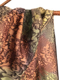 """A Walk in the Woods"" - Hand-dyed Silk Scarf - $95"