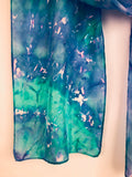 """Crystal Aurora"" - Hand-dyed Silk Scarf - SOLD"