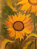 """Summer Sunflowers #2""- Silk Wall-hanging - $135"