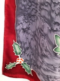 """Holly and Ivy"" - Hand-dyed Silk Scarf - $95"