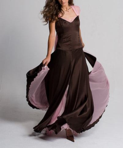 SAMPLE SALE Flowy Silk Charmeuse and Silk Chiffon