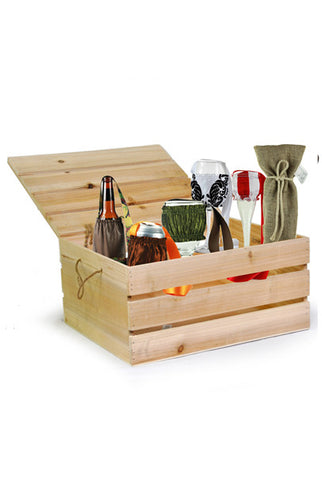 Crate Wood Basket - Free Basket
