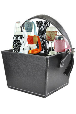 Black Leather Basket - Free Basket