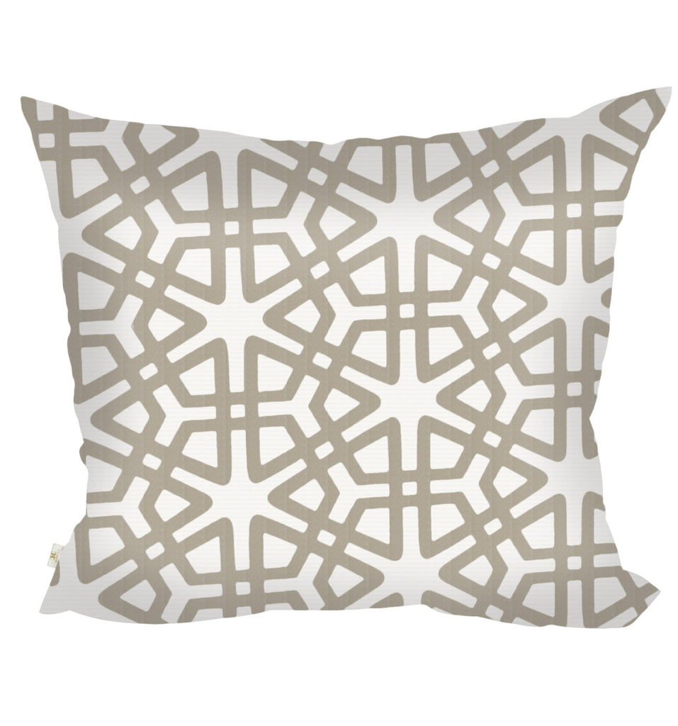 Geom Decorative Pillow Covers Collection  Off-White, Square Set of 2. - FashionHomeGift