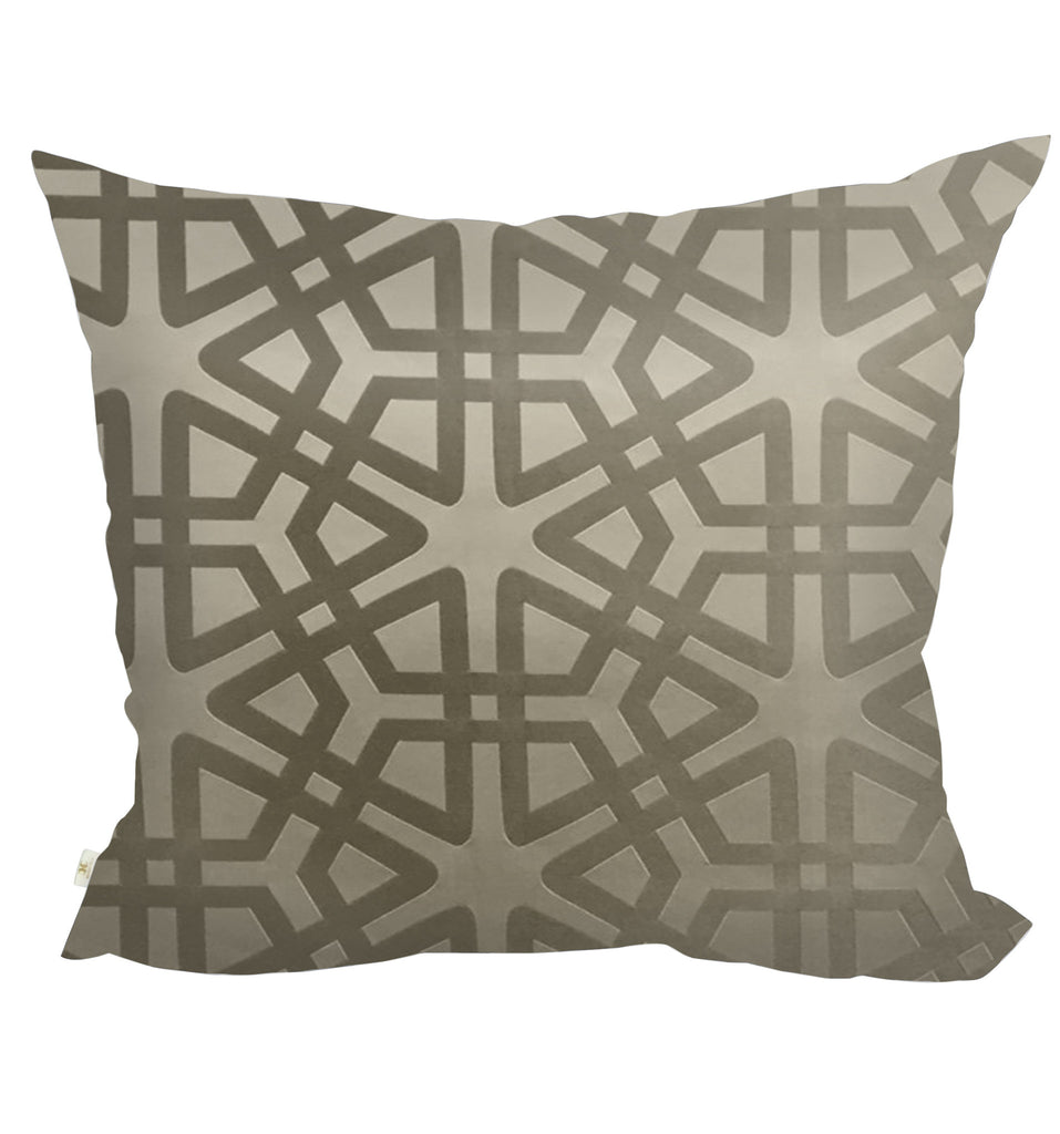 Geom Decorative Pillow Covers Collection Mocha, Square Set of 2. - FashionHomeGift