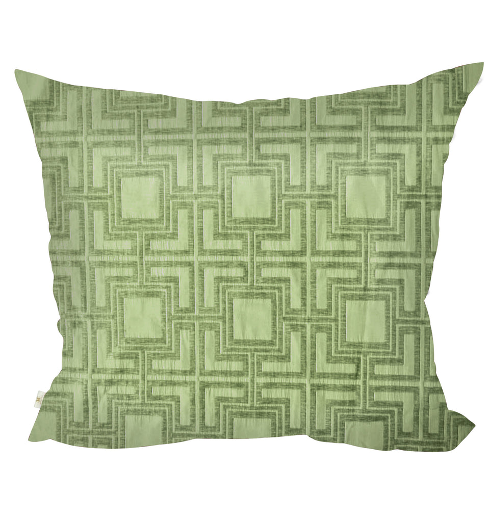 "Tagon Decorative Pillow Covers Collection Lime, 26"" Square Set of 2. - CarolineHallak"
