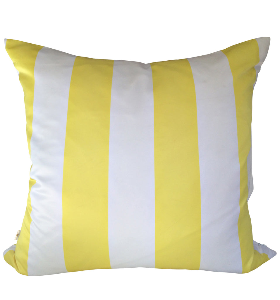 SatiSpring Decorative Pillow Covers Collection Yellow-White, Square Set of 2. - FashionHomeGift
