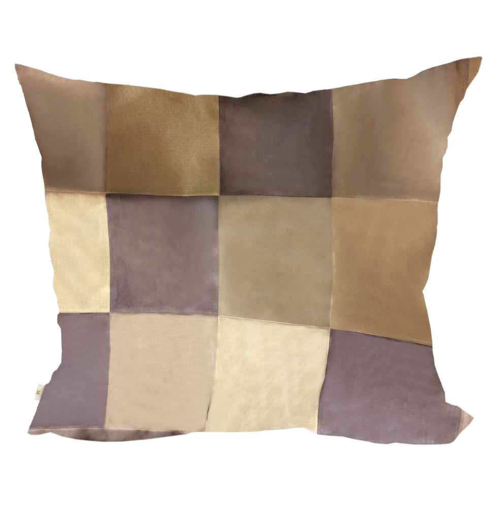 BronzeElegantly Decorative Pillow Covers Collection Bronze, Square Set of 2. - FashionHomeGift