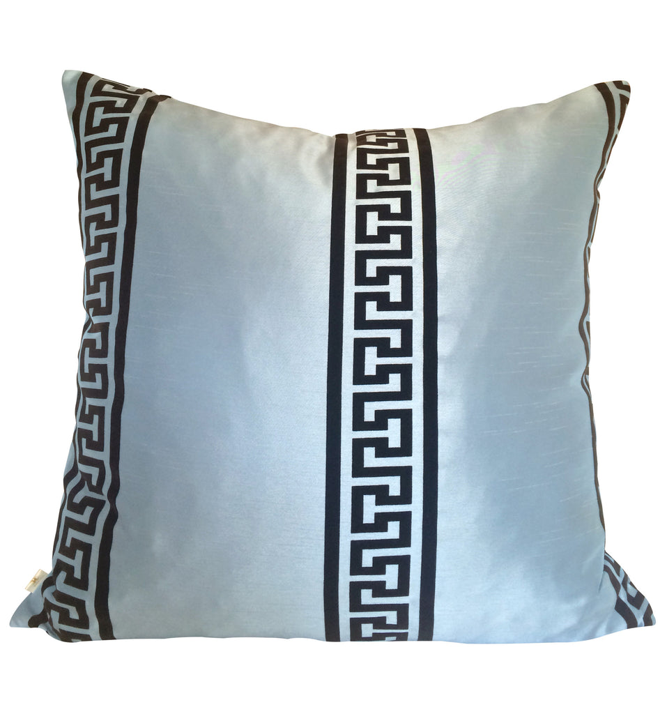 GreekClass Decorative Pillow Covers Collection Blue, Square Set of 2. - FashionHomeGift