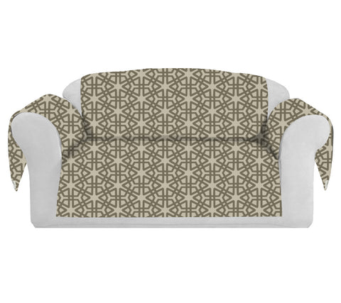 Geom Decorative Sofa / Couch Covers Collection Mocha.