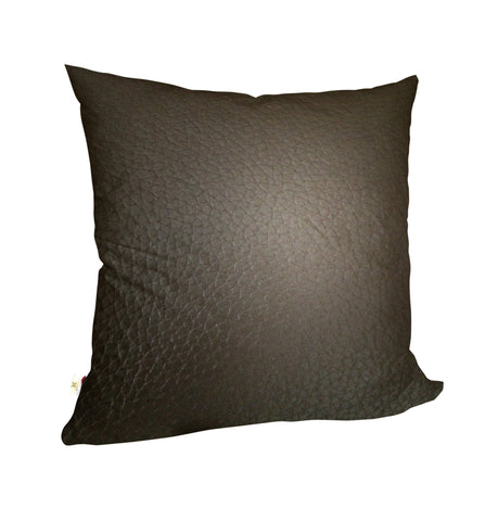 Faux LeatherExotica Decorative Pillow Covers Collection Chocolate, Square Set of 2.
